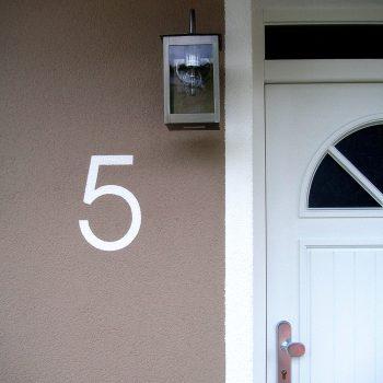 Maler- und Lackierbetrieb Graw Fassade Hausnummer